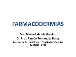 FARMACODERMIAS - Cátedra Dermatología