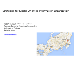 Model-Oriented Information Organization