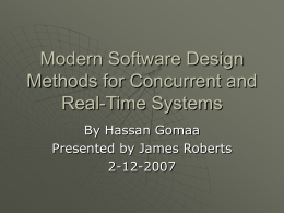 Modern Software Design Methods for Concurrent and