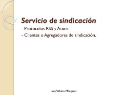 Servicio de sindicación