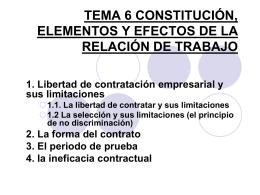 TEMA 8CONSTITUCIÓN, ELEMENTOS Y EFECTOS DE LA