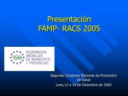 Presentación de la FAMP