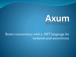 Axum - Northwest C++ Users' Group