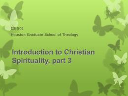 Spiritual Formation Unit
