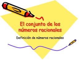El conjunto de los números racionales