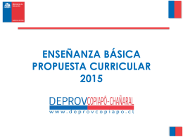 BASES CURRICULARES 1° A 6°