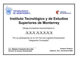 Instituto Tecnológico y de Estudios Superiores de