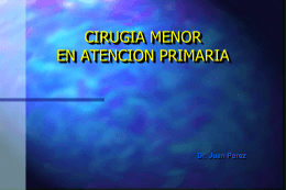 CIRUGIA MENOR EN ATENCIÓN PRIMARIA