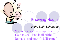 Knowing Nouns - SchoolRack.com