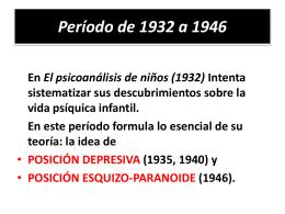 Período de 1932 a 1946 - TEORIAS PSICOLOGICAS II