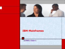 COBOL - Mainframes Online Training