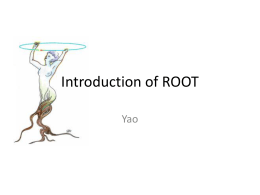 Introduction of ROOT