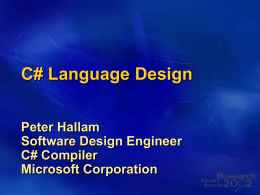 C+ Language Design