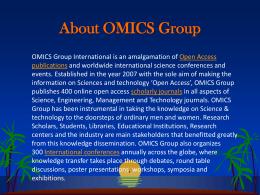 Lorem Ipsum - OMICS Group