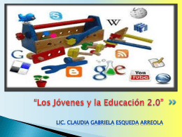 """Actividad 2.2. """"Jóvenes y Educación 2.0"""""""