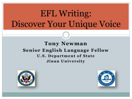 EFL Writing: Discover Your Unique Voice