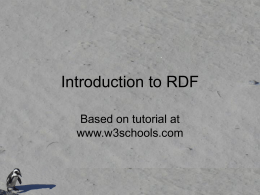 Introduction to RDF - Villanova University