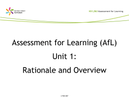 (Powerpoint) Assessment for Learning