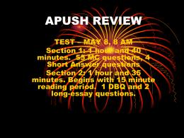 APUSH REVIEW