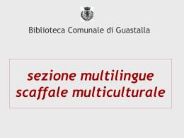 sezione multilingue scaffale multiculturale