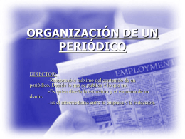 ORGANIZACIÓN DE UN PERIÓDICO