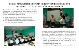 CURSO MANEJO DEL SISTEMA DE GESTIÓN DE SEGURIDAD