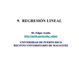 CAP. 9 REGRESIÓN LINEAL