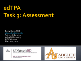edTPA – Assessment Task