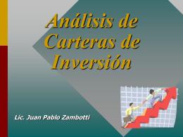 Análisis de Carteras de Inversión