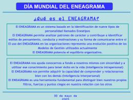 Día Mundial del ENEAGRAMA 09-05-30