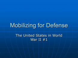 Mobilizing for Defense - Santa Ana Unified School