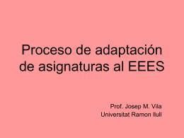 Proceso de adaptación de asignaturas al EEES