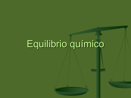 Equilibrio químico - Colegio Marista La