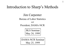 Intro to Sharp's Methods