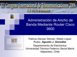 Administración de Ancho de Banda Mediante Router