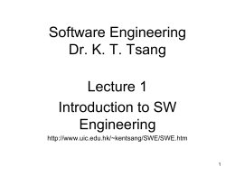Object-Oriented Programming Dr. K. T. Tsang