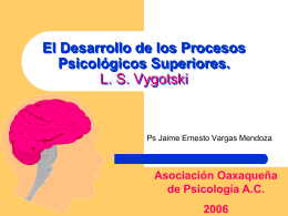El Desarrollo de los Procesos Psicológicos