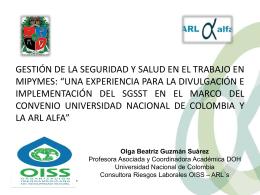 Diapositiva 1 - OISS - Organización Iberoamericana