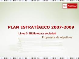 PLAN ESTRATÉGICO 2007-2009