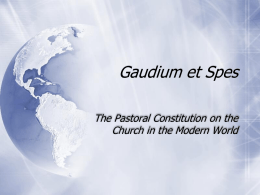 Gaudium et Spes - Catholic Diocese of Townsville