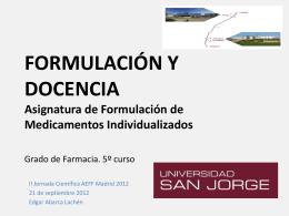 FORMULACIÓN DE MEDICAMENTOS INDIVIDUALIZADOS
