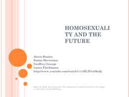Homosexuality and the Future