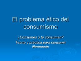 El problema ético del consumismo