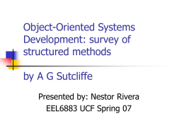 Object-Oriented Systems Development: survey of