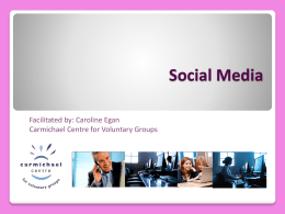 Social Media, Blogs and Newsletters