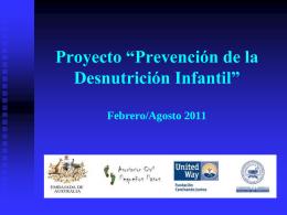 """Proyecto """"Prevención de la Desnutrición Infantil"""""""