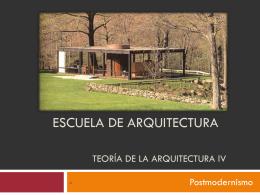 Escuela de Arquitectura Teoría de la Arquitectura
