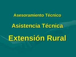 Asesoramiento Técnico Asistencia Técnica Extensión