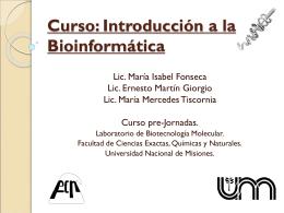 Curso: Introducción a la Bioinformática