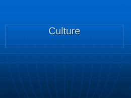 Lectures: Culture, Culture Dimensions, Normative